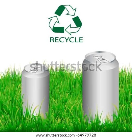 Vector drinking aluminium,recycle can - stock vector