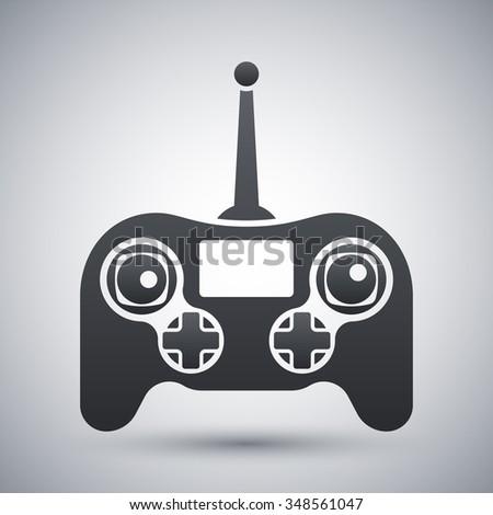 Vector drone remote control icon - stock vector