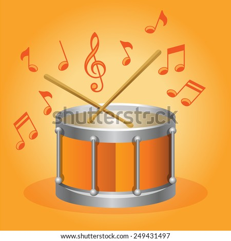 Vector Drum illustration - stock vector