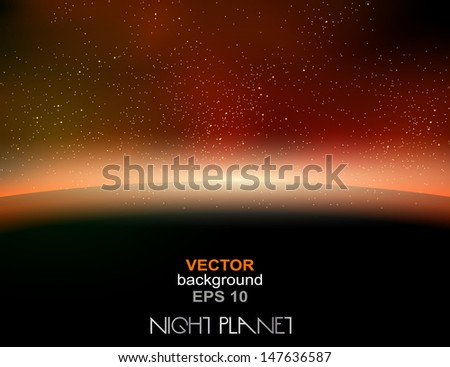 Vector Earth, space concept - stock vector