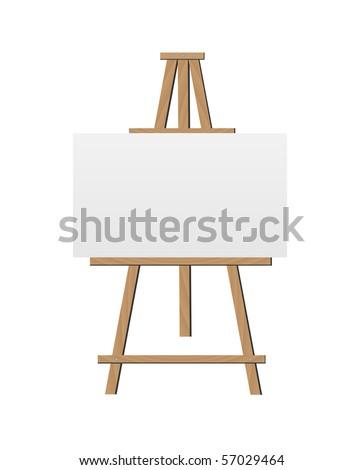 Vector Easel Illustration - stock vector