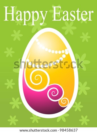 vector easter card - stock vector