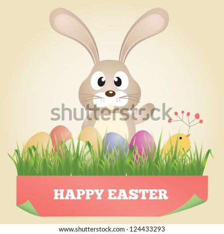 Vector easter graphical elements - stock vector