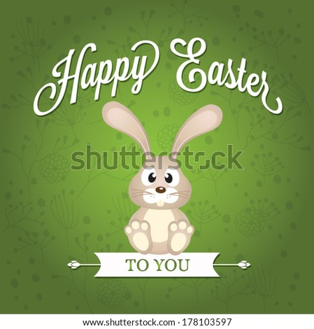 Vector Easter graphical elements. Easter card - stock vector