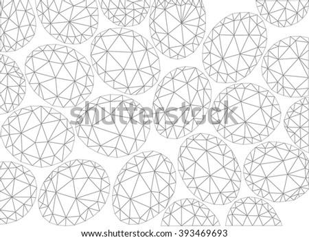 Vector Easter pattern. Polygonal vector background. - stock vector
