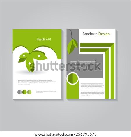 Vector Eco Flyer Template, Poster Cover,Brochure Design. - stock vector