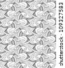 vector editable and scalable seamless fish pattern - stock vector