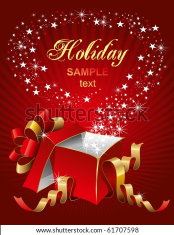 Vector editable illustration of magic gift box, open and luminous - stock vector