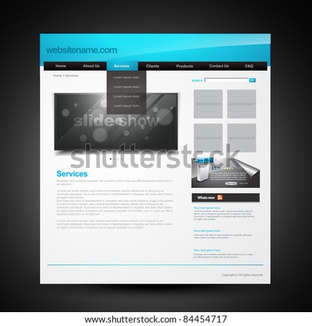 vector editable webpage layout for website - stock vector