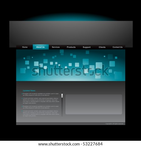 vector editable website template design - stock vector