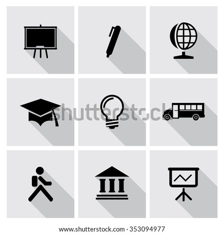 Vector education icons set. - stock vector