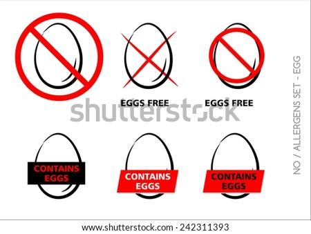 Vector Egg Free Symbols on white background - stock vector