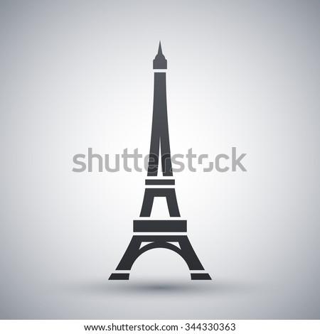 Vector Eiffel Tower Icon - stock vector