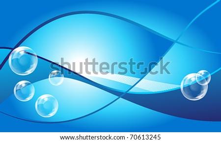 Vector elegant aqua business background - stock vector