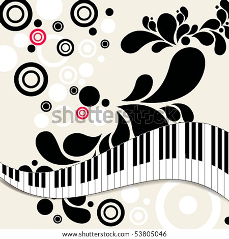 Vector elegant music background - stock vector