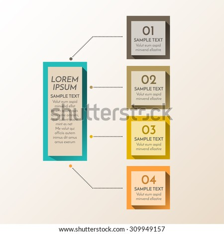 Vector element for business design. Modern info graphic number options template. Can be used for work flow layout diagram, business step options - stock vector