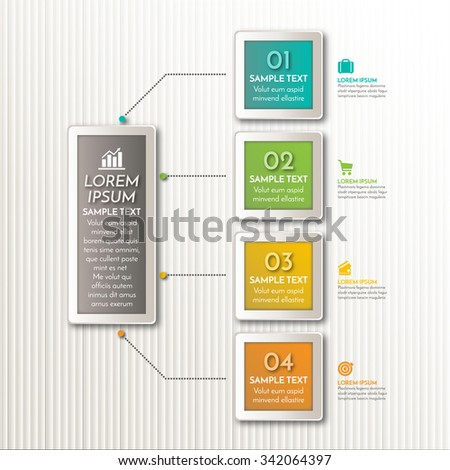 Vector element for business design. Modern infographic number options template. Can be used for work flow layout diagram, business step options - stock vector