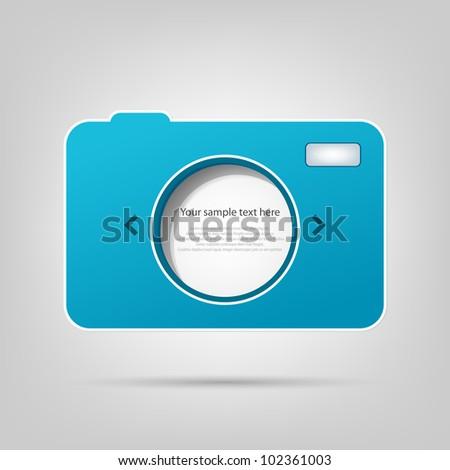 vector element for web design. photo camera - stock vector