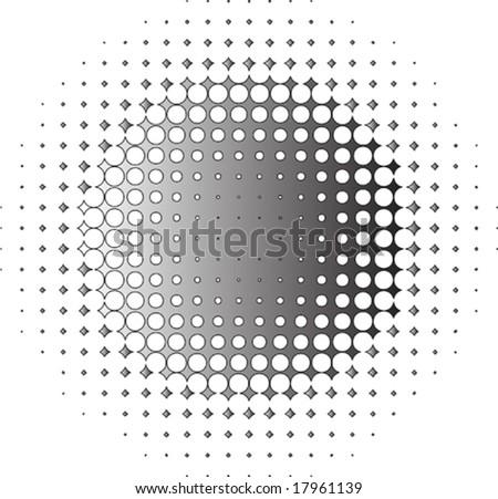 vector element - halftone - stock vector