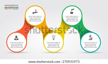 Vector elements for infographic. Template for cycling diagram, graph ...