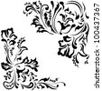 Vector elements pattern for ornaments floral - stock vector