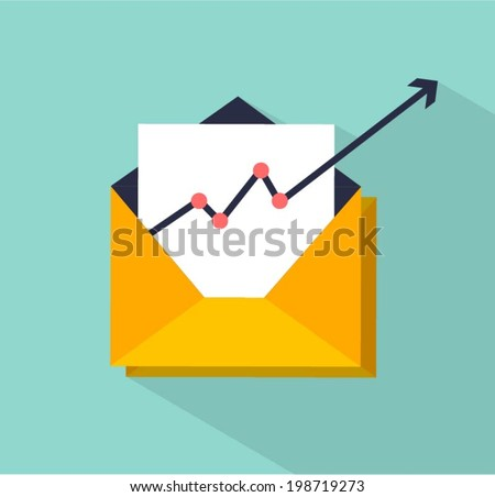 vector email marketing concept illustration - stock vector
