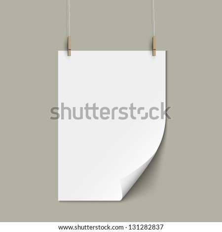 Vector empty paper sheet - stock vector