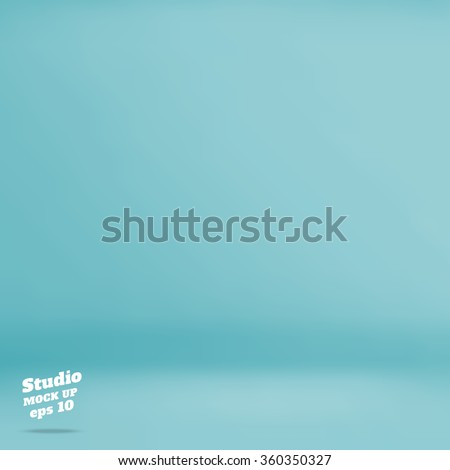 Vector :Empty pastel turquoise studio room background ,Template mock up for display of product,Business backdrop - stock vector