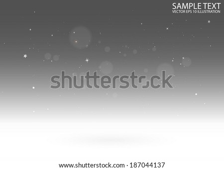 Vector empty virtual 3D background template - Vector 3D  sparks and glitters over reflective background illustration - stock vector