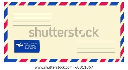 vector envelope - stock vector