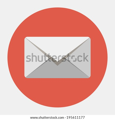 Vector envelope icon - stock vector