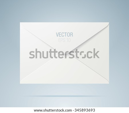 Vector envelope. White envelope isolated on a background. - stock vector