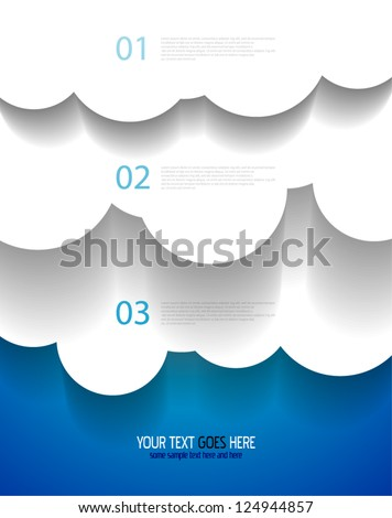 Vector EPS10 design: applique vector clouds - stock vector