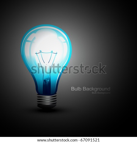 vector eps10 glowing bulb illustration - stock vector