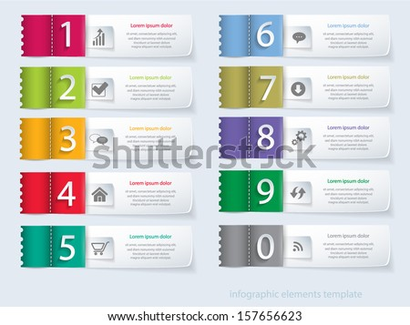 Vector eps10 numbered banners. Can be used for workflow layout, business step options, banner, web design. - stock vector
