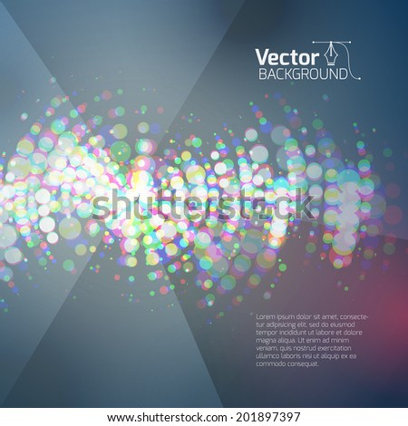 Vector equalizer - stock vector