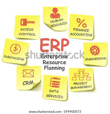 Vector ERP Stickers - stock vector