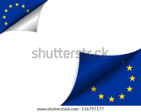 Vector - Europe Country Flag Turning Page - stock vector