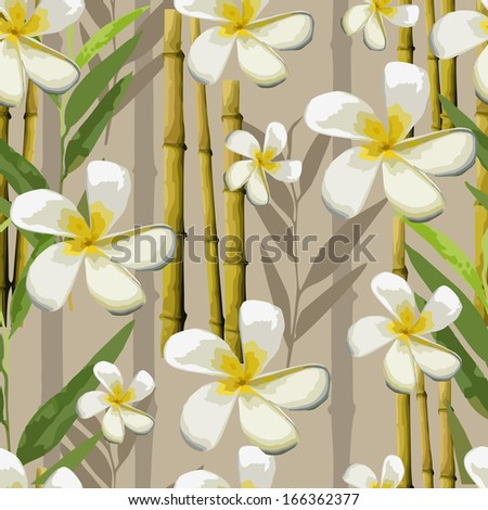 vector exotic flowers - stock vector