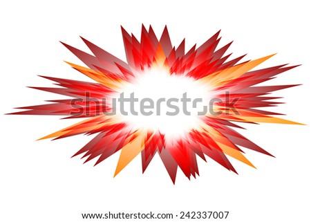 vector explosion - stock vector