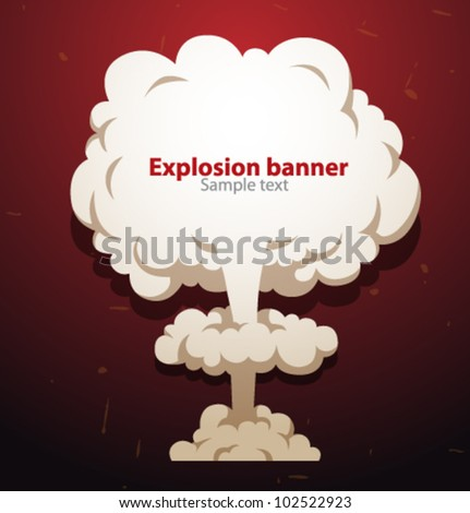 Vector explosion speech banner - stock vector