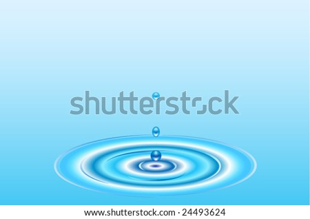 Vector falling water drops - stock vector