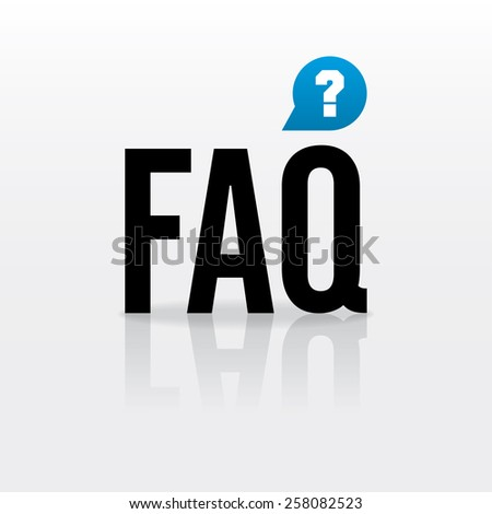 Vector FAQ element. With button - question mark.  Color - black, blue. Eps 10 vector file.  - stock vector