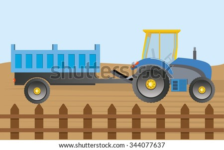 Vector Farm Tractor  - stock vector