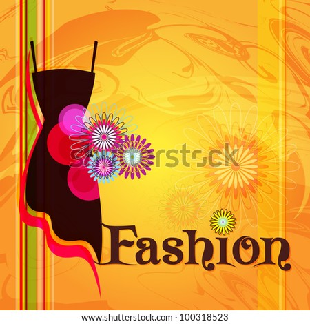 Vector fashion background - stock vector