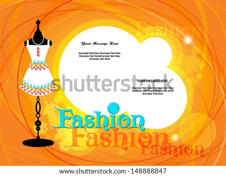 Vector fashion background / Vector illustration of fashion mannequin a fashion show.  - stock vector
