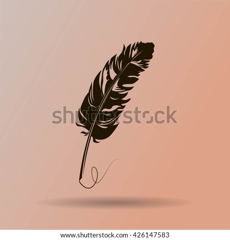 Vector feather - stock vector