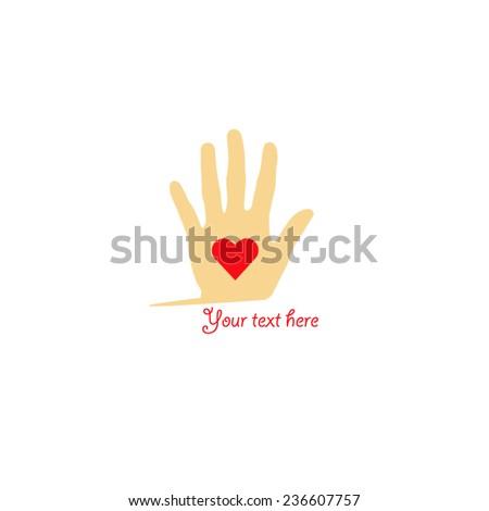 vector file of hand logo design - stock vector