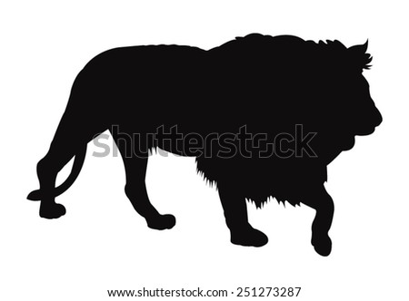 vector file of lion silhouette - stock vector