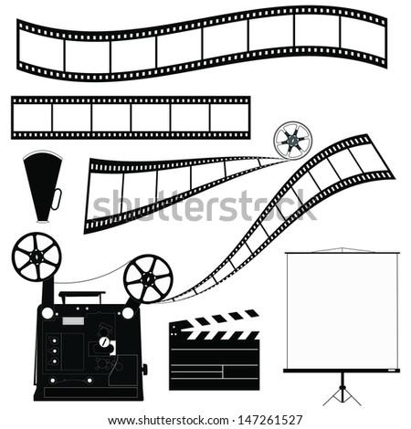vector film - stock vector